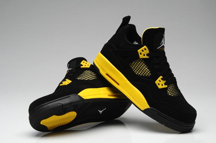 air jordan 4 noir et jaune
